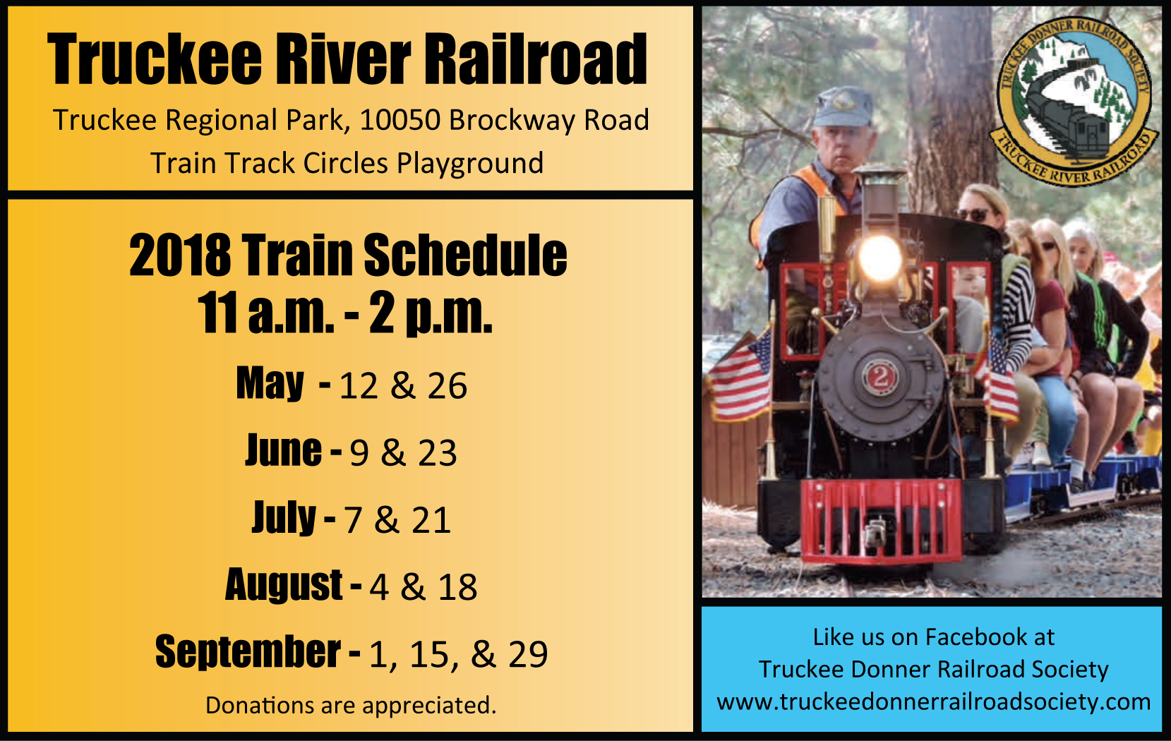 Truckee Donner Railroad Society (TDRS) Home